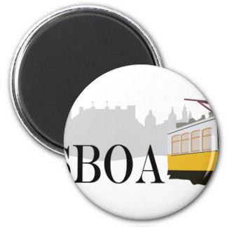 Lisboa Tram 6 Cm Round Magnet