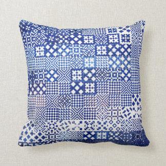 Lisbon Aquarium tiles texture pattern ceramic port Cushion