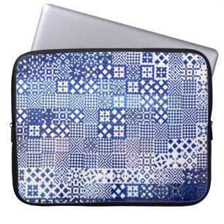 Lisbon Aquarium tiles texture pattern ceramic port Laptop Sleeve