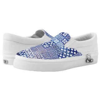 Lisbon Aquarium tiles texture pattern ceramic port Slip-On Shoes