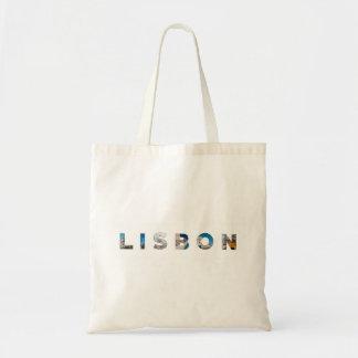 lisbon city portugal landmark inside text symbol tote bag