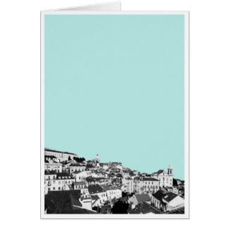 Lisbon in Teal Greeting Card