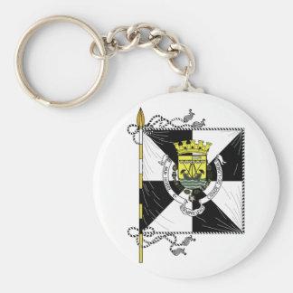 Lisbon Portugal Flag Basic Round Button Key Ring