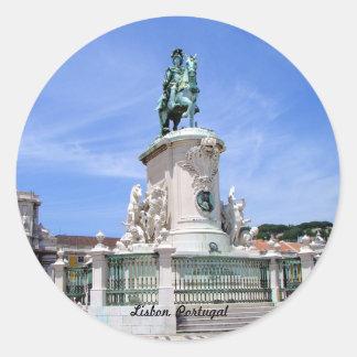 Lisbon, Portugal Round Sticker