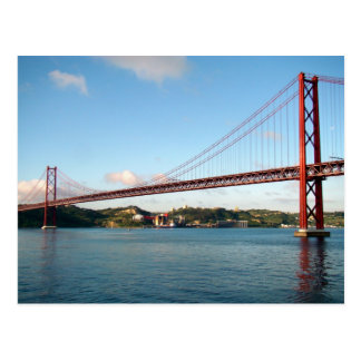 Lisbon Suspension Bridge Postcard