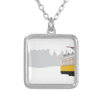 Lisbon Tram Silver Plated Necklace