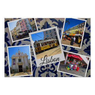 Lisbon Travel Collection Poster