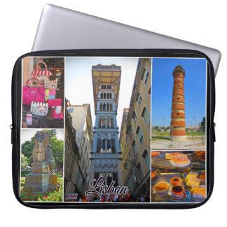 Lisbon Travel Collection – Santa Justa Elevator Laptop Sleeve