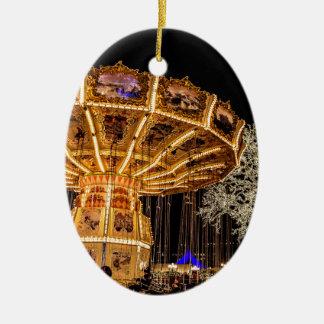 Liseberg theme park ceramic oval decoration
