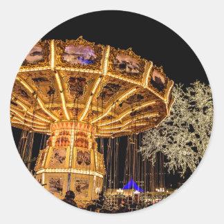 Liseberg theme park classic round sticker