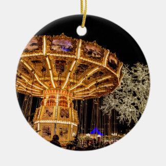 Liseberg theme park round ceramic decoration