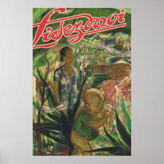 Lisez Moi cover; In the garden Poster