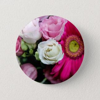 Lisianthus 6 Cm Round Badge