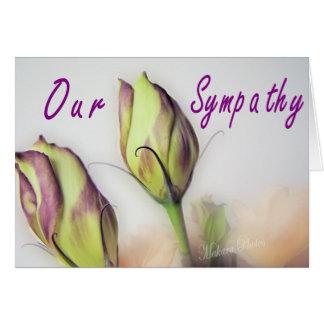 Lisianthus Sympathy card