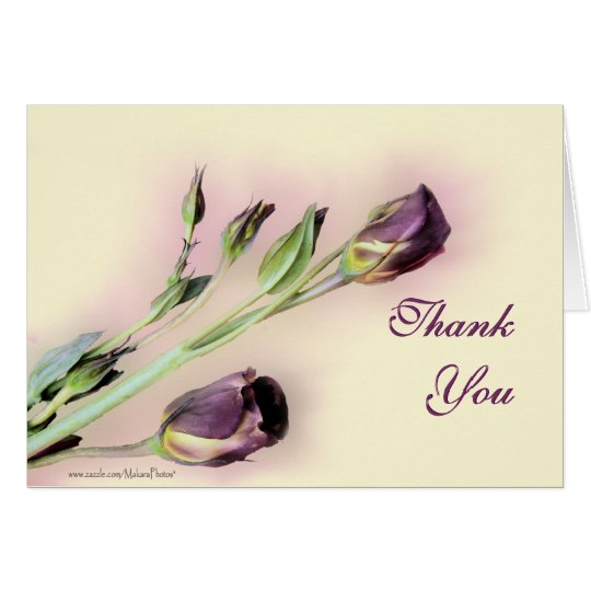 Lisianthus thank you blank card --customise