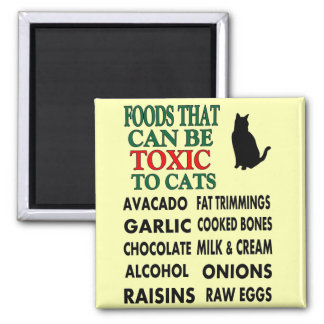 LIST OF TOXIC FOODS FOR CATS MAGNET