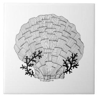 Listakora Seashell Ceramic Trivet / Tile