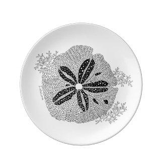 Listakora Seashell Porcelain Plate - Medium