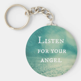Listen for Your Angel Quote Keychain