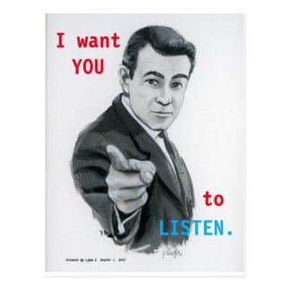LISTEN postcard