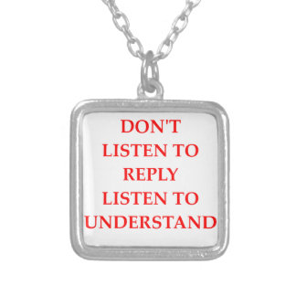 LISTEN SILVER PLATED NECKLACE