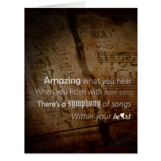 Listen - Symphony of the Heart Card