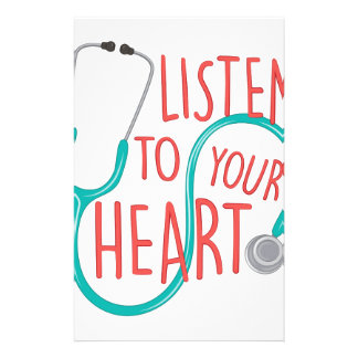 Listen To Heart Stationery Design