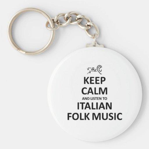 Listen to Italian Folk Music Key Chain