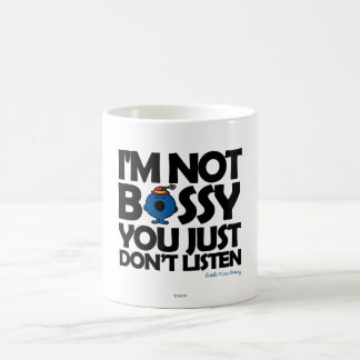 Listen To Little Miss Bossy Classic White Coffee Mug
