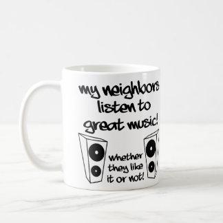 Listen To Loud Music Funny Mug or Travel Mug