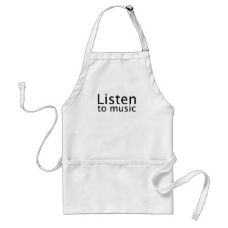 Listen to music adult apron