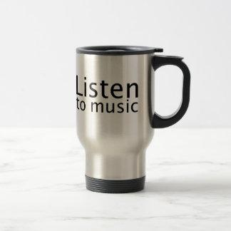 Listen to music travel mug