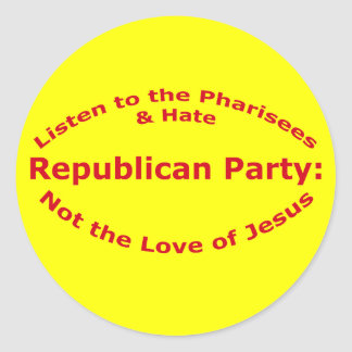Listen to the Pharisees Round Stickers
