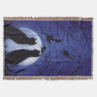 Listen to the Silence at Night Throw Blanket