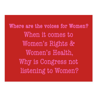 Listen to Women (2017) Postcard