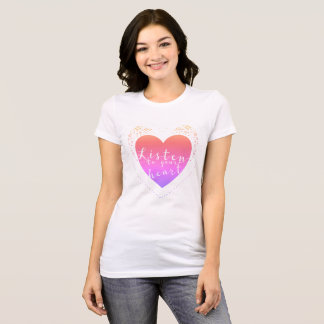 Listen To Your Heart Doily T-Shirt