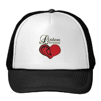 Listen to your heart trucker hat