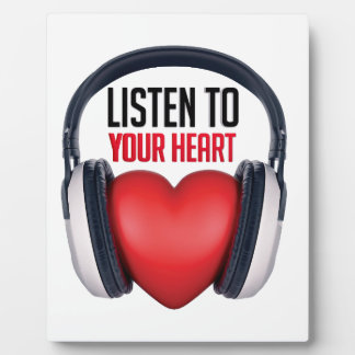 Listen to Your Heart Photo Plaque