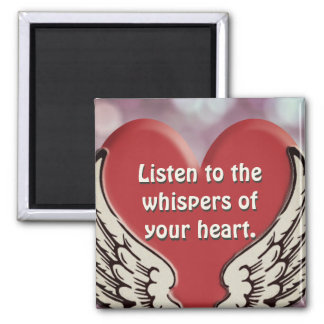 Listen to Your Heart Square Magnet