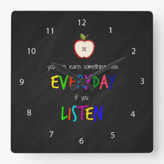 Listening Square Wall Clock