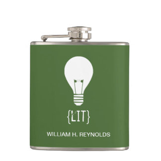 {LIT} Bridal Party Lit Lightbulb Flask (green)