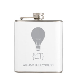 {LIT} Bridal Party Lit Lightbulb Flask (grey)