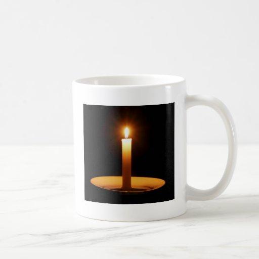 Lit Candle on Black.jpg Mug