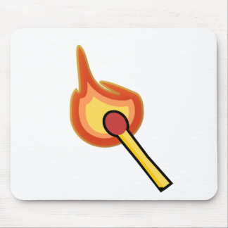 Lit Match Illustration Mouse Pad