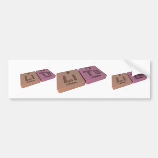 Lita as Lithium Li and Tantalum Ta Bumper Sticker