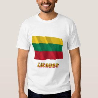 Litauen Fliegende Flagge mit Namen T Shirts