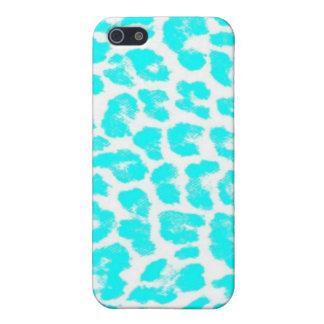 Lite Blue Leopard Print iPhone 5 Case