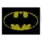 Lite-Brite Bat Emblem Card