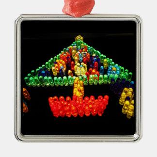 Lite Brite Christmas Tree Metal Ornament