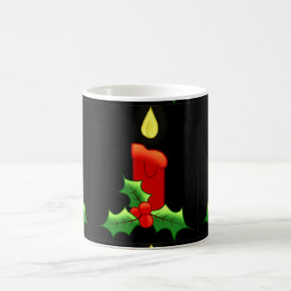 Lite Candle with Holly Coffee Mug